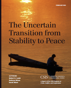 The Uncertain Transition from Stability to Peace (with Kathryn Mixon and Sarah Minot), CSIS Report