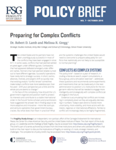 """Preparing for Complex Conflicts"" (with Melissa R. Gregg), USIP Brief"